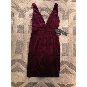 Lulu's Maroon Velvet Dress